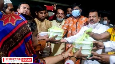 আড়াইহাজারে বঙ্গবন্ধু পল্লীতে প্রধানমন্ত্রীর মেহমানদের অন্যরকম ঈদ