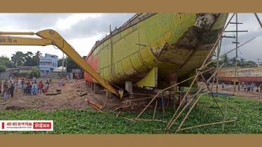 রূপগঞ্জে শীতলক্ষ্যা নদীর তীরে ডকইয়ার্ডসহ অবৈধ স্থাপনা উচ্ছেদ