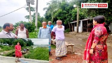 বন্দরে খাল ভরাট স্থান পরিদর্শনে উপজেলা প্রশাসন